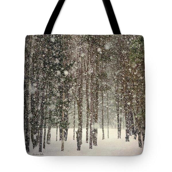 Scenic Snowfall Tote Bag by Christina Rollo