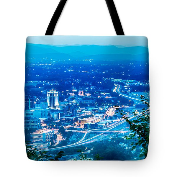 Scenics Around Mill Mountain Roanoke Virginia Usa Tote Bag