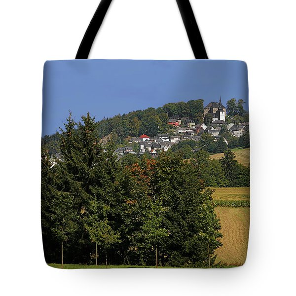 Schauenstein - A Typical Upper-franconian Town Tote Bag by Christine Till
