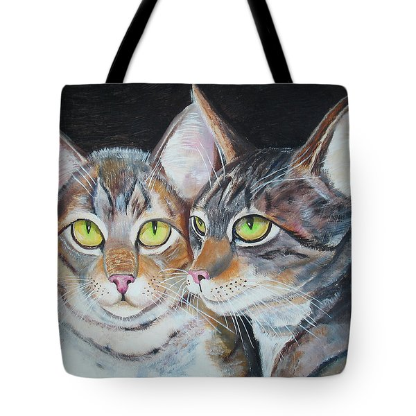 Scheming Cats Tote Bag
