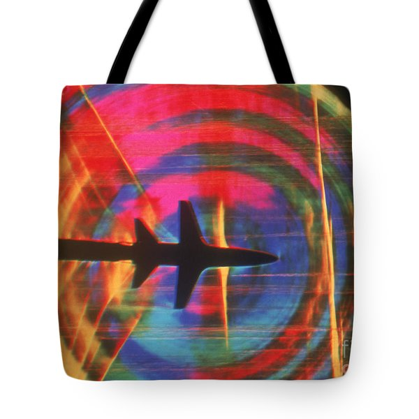 Schlieren Image Of Aircraft Tote Bag by Garry Settles