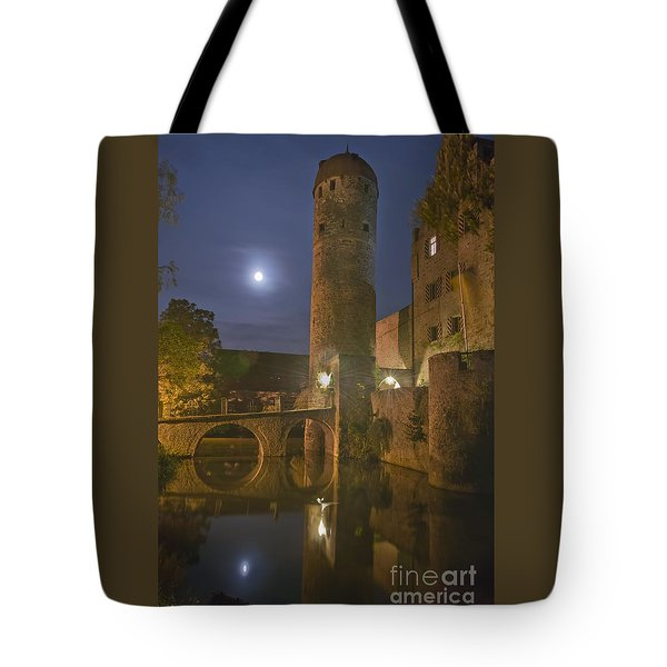 Schloss Sommersdorf By Moonlight Tote Bag