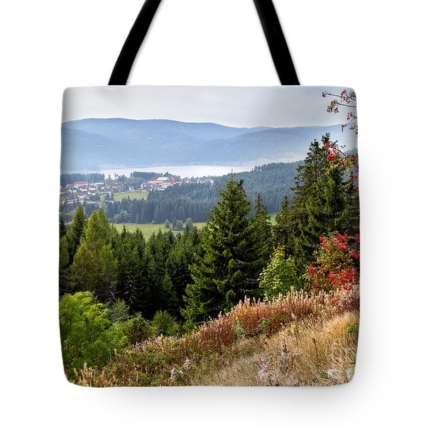 Tote Bag featuring the photograph Schluchsee In The Black Forest by Bernd Laeschke