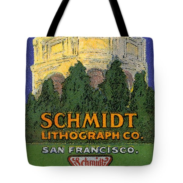 Schmidt Lithograph  Tote Bag by Cathy Anderson