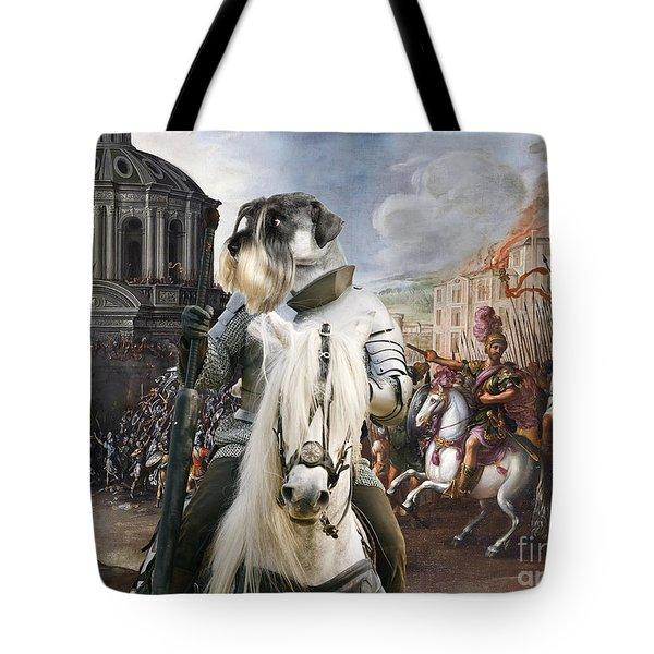Schnauzer Art - A Siege The Sack Of Rome   Tote Bag
