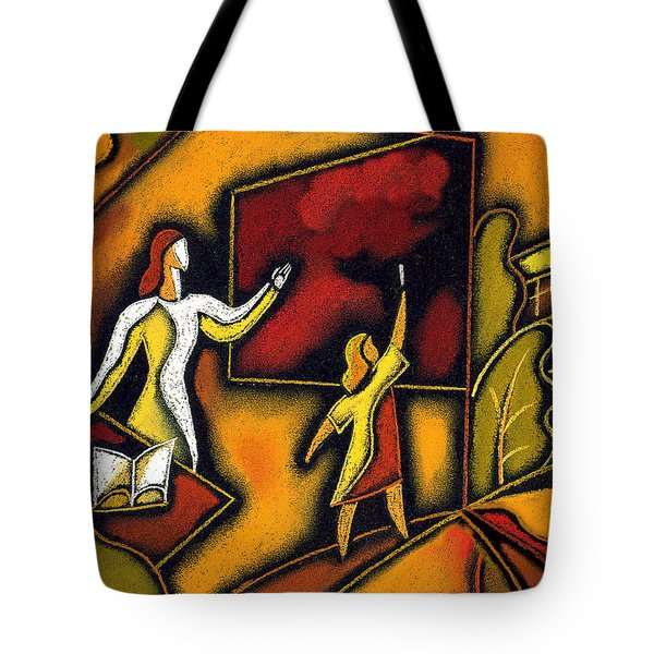 School Tote Bag by Leon Zernitsky