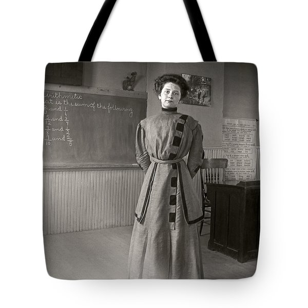 Tote Bag featuring the photograph School Teacher 1890 by Martin Konopacki Restoration