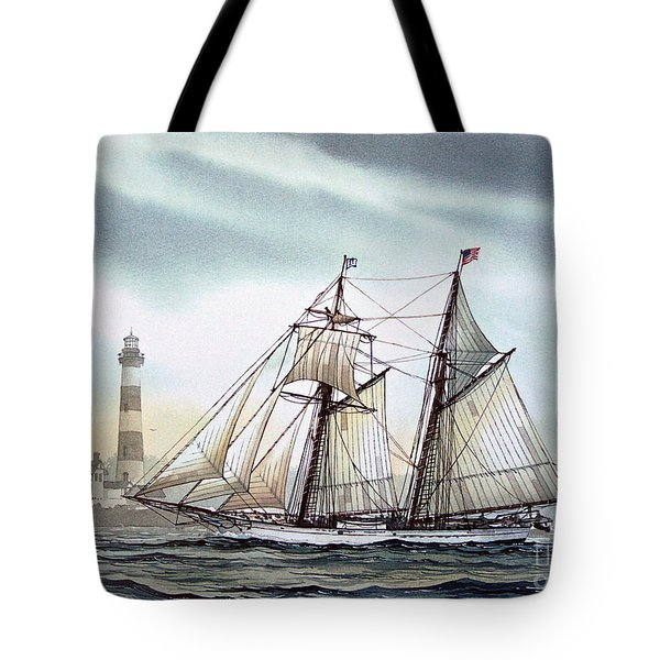 Schooner Light Tote Bag by James Williamson