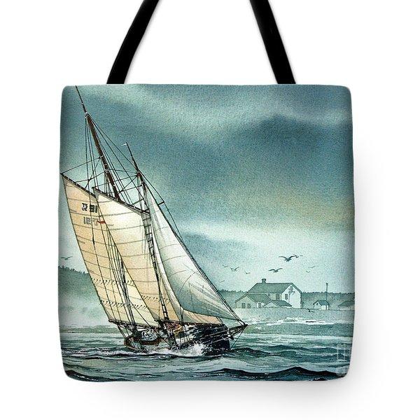 Schooner Voyager Tote Bag