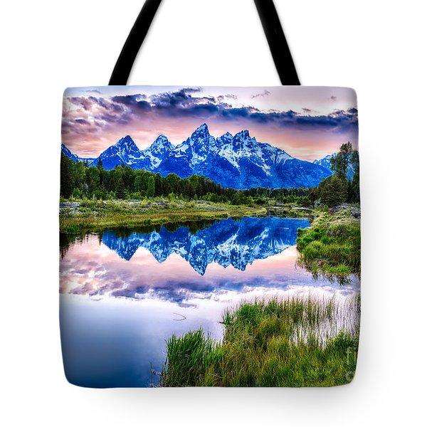 Blue Teton Tote Bag