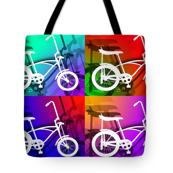 Tote Bag featuring the digital art Schwinn Sting-ray by Stephen Younts