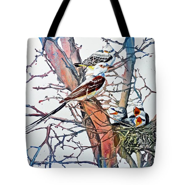 Da149 Scissortailed Flycatchers By Daniel Adams Tote Bag
