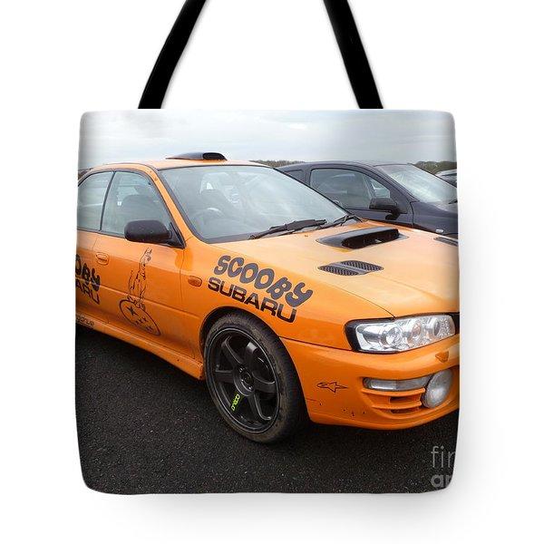 Scooby Subaru Tote Bag by Vicki Spindler