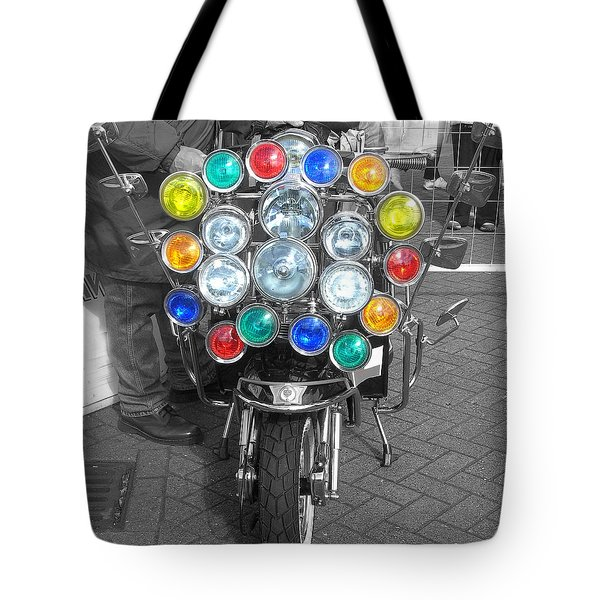 Scooter Spotlights Tote Bag