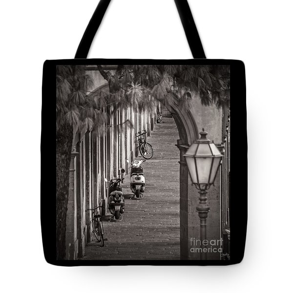 Scooters And Bikes Tote Bag