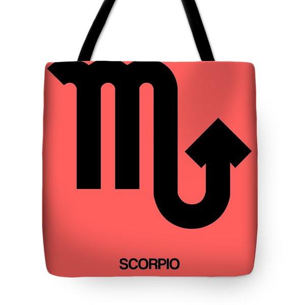 Scorpio Zodiac Sign Black Tote Bag