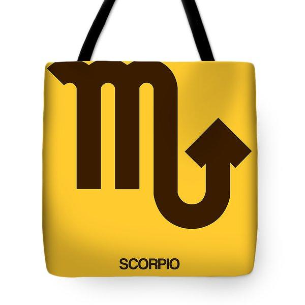 Scorpio Zodiac Sign Brown Tote Bag