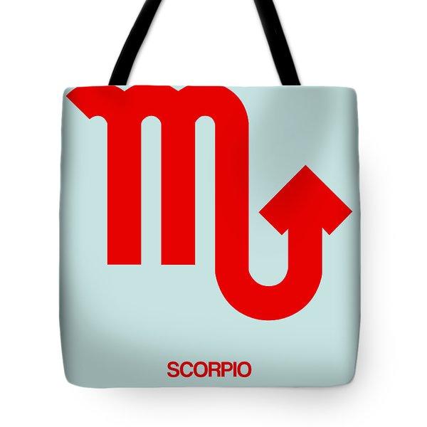 Scorpio Zodiac Sign Red Tote Bag