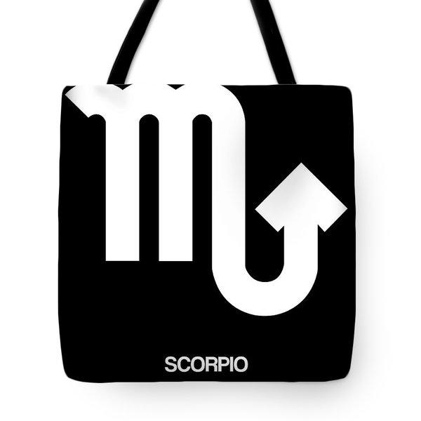 Scorpio Zodiac Sign White Tote Bag