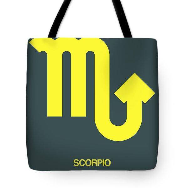Scorpio Zodiac Sign Yellow Tote Bag