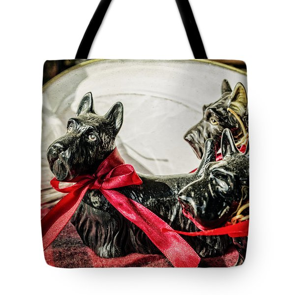 Scotties In The Window Tote Bag by Caitlyn  Grasso