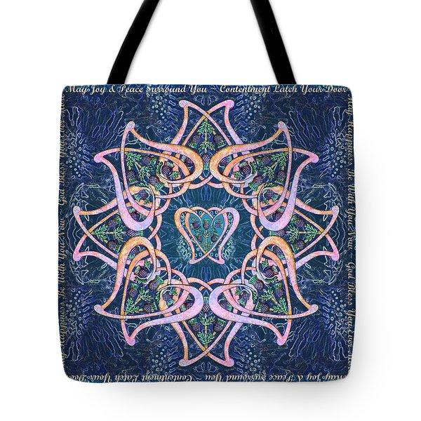 Scottish Blessing Celtic Hearts Duvet Tote Bag