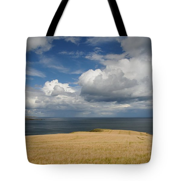 Scottish Coastal Wheatfield Tote Bag