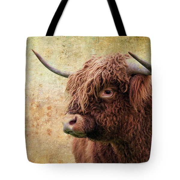 Scottish Highland Steer Tote Bag by Steve McKinzie