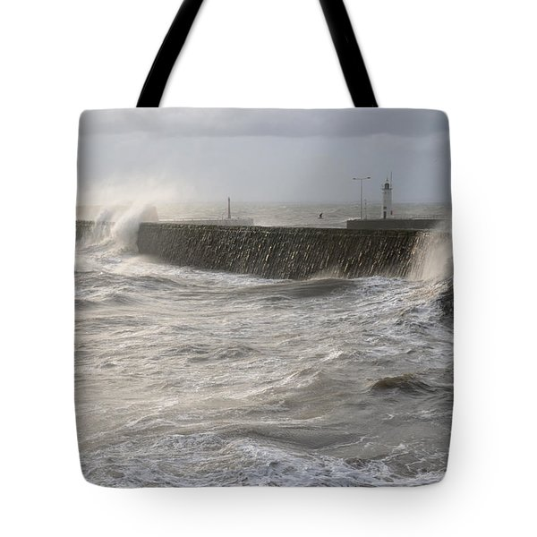 Scottish Sea Storm Tote Bag