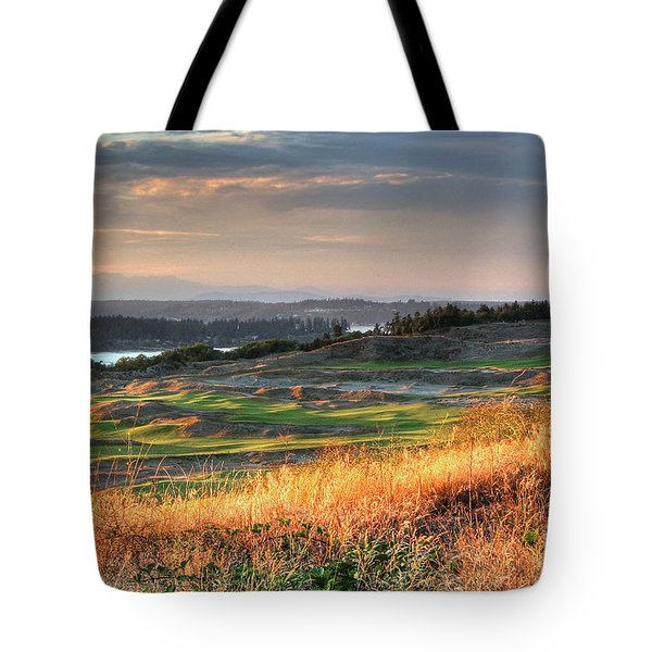 Scottish Style Links In September - Chambers Bay Golf Course Tote Bag by Chris Anderson