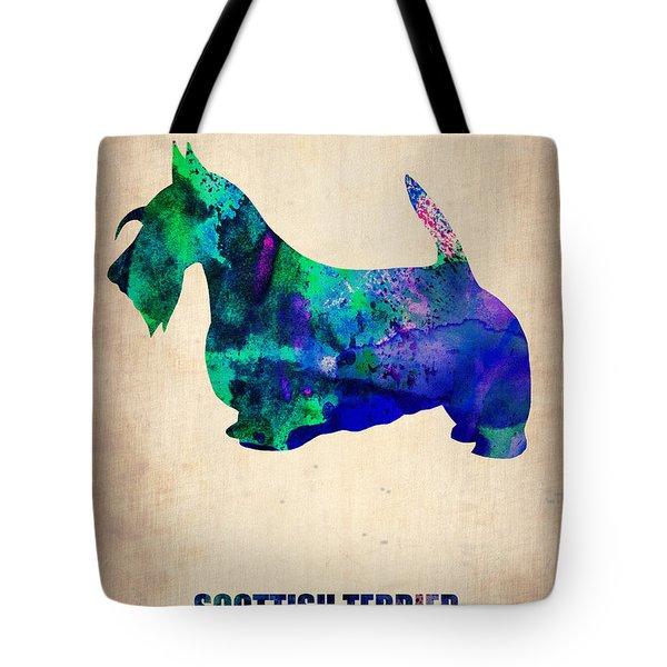 Scottish Terrier Poster Tote Bag by Naxart Studio