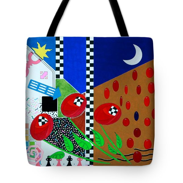 Tote Bag featuring the painting Scottish Tulip by Thomas Gronowski