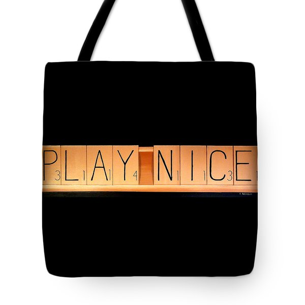 Scrabble Tote Bag
