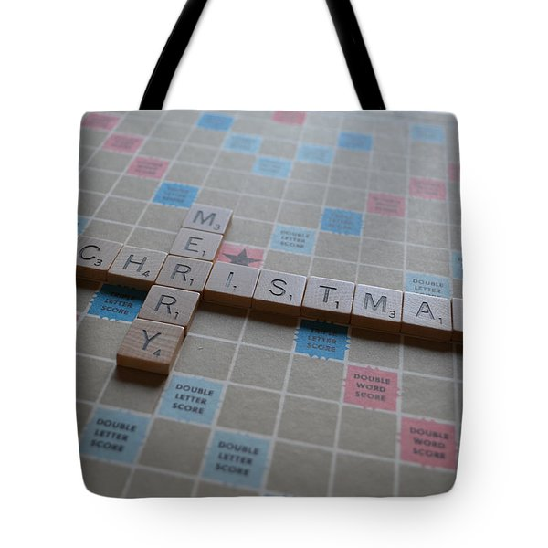 Scrabble Merry Christmas Tote Bag