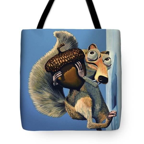 Scrat Of Ice Age Tote Bag