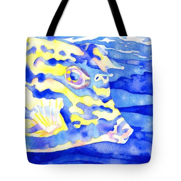 Scrawled Cowfish Portrait Tote Bag
