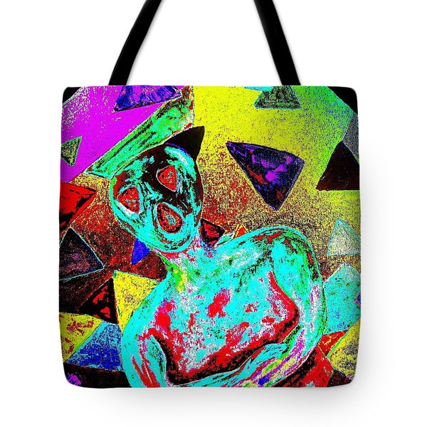 Scream Abstract Art Tote Bag