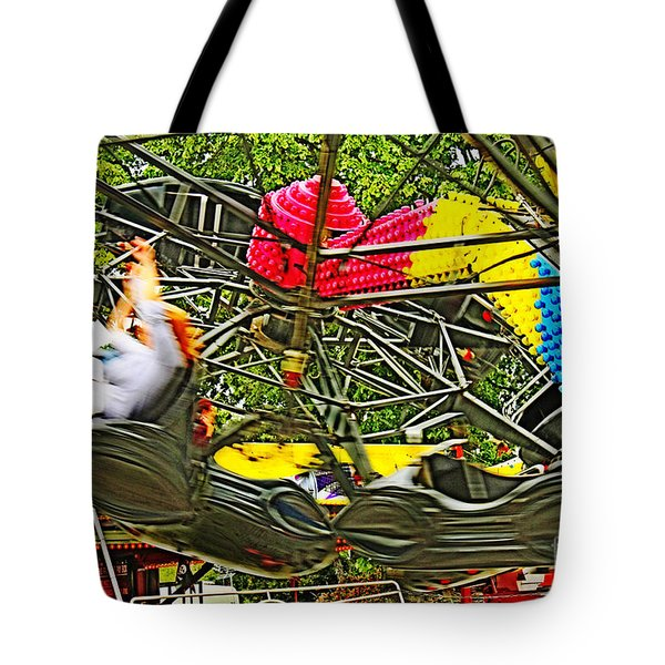 Scream If You Want To Go Faster Tote Bag by Terri Waters