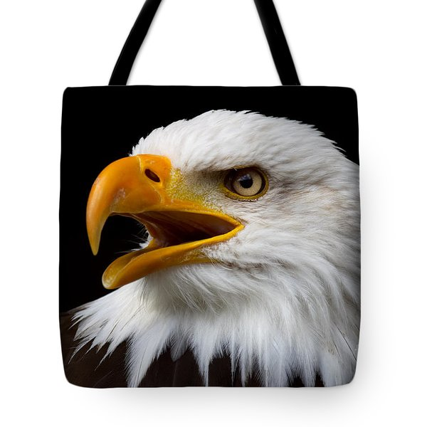 Screaming Bald Eagle Tote Bag