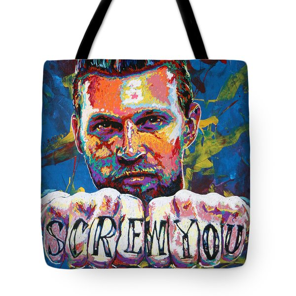 Screw You Tote Bag by Maria Arango