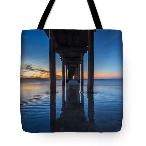 Scripps Pier Blue Hour Tote Bag