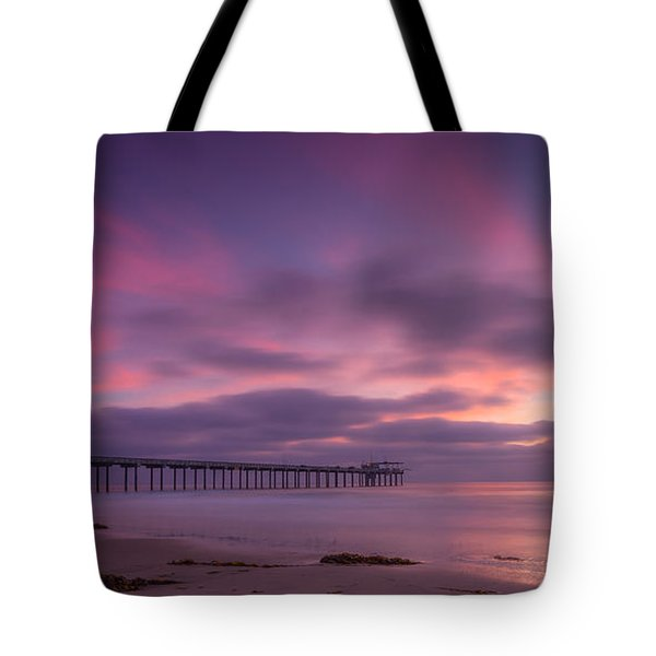 Scripps Pier Colors Tote Bag