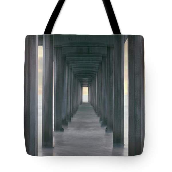 Scripps Pier Into The Pacific Ocean, La Tote Bag