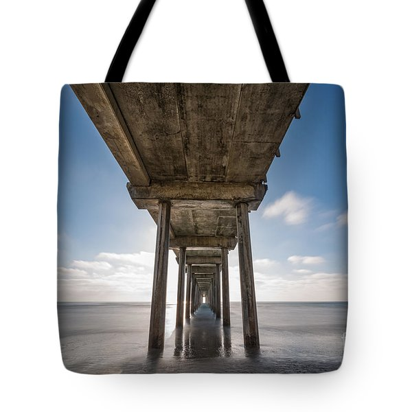 Scripps Pier Long Exposure Tote Bag