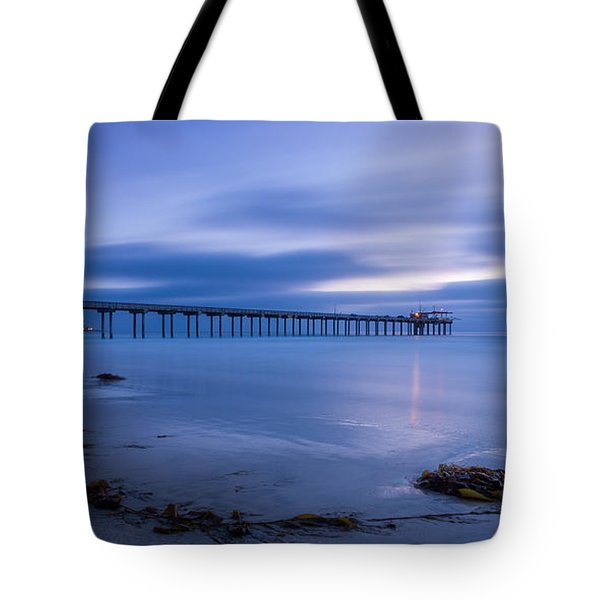 Scripps Pier Twilight - Color Tote Bag