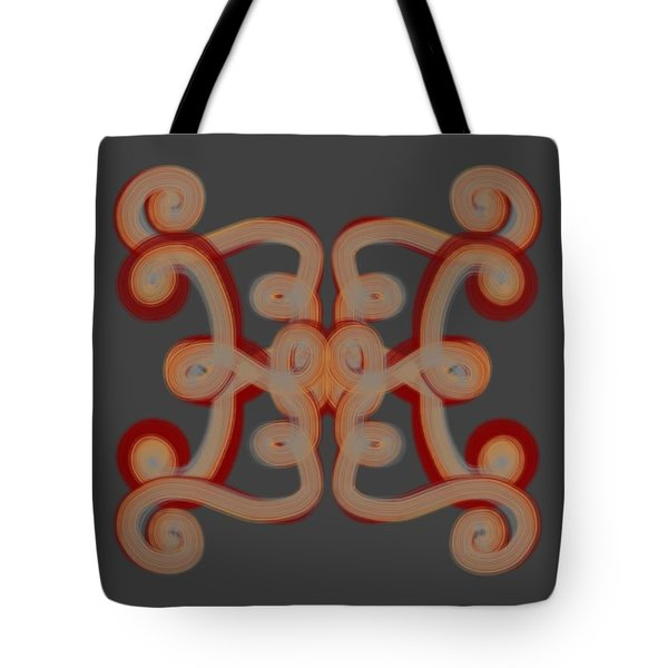 Tote Bag featuring the digital art Scroll by Christine Fournier
