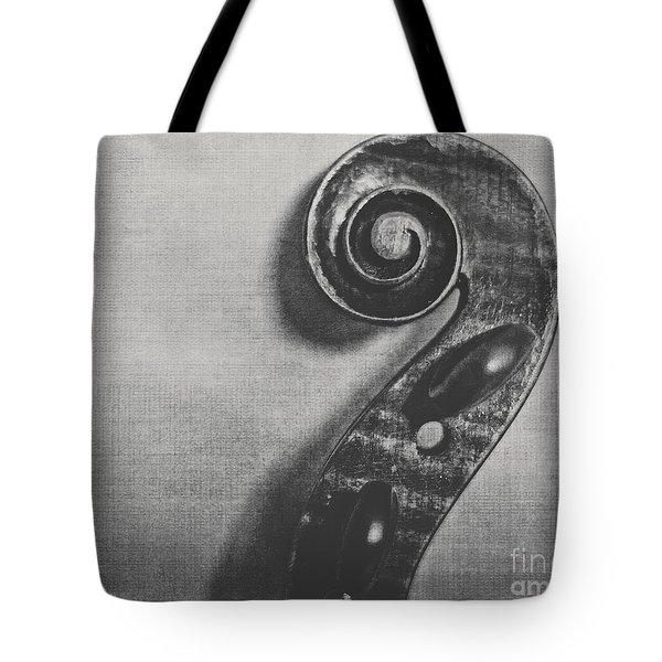 Scroll In Black And White Tote Bag