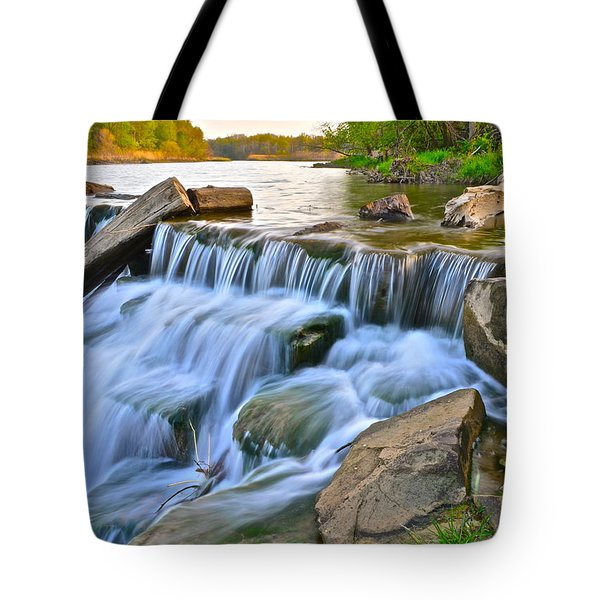 Sculpted Falls Tote Bag by Frozen in Time Fine Art Photography