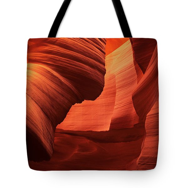 Tote Bag featuring the photograph Sculpted Sandstone Upper Antelope Slot Canyon Arizona by Dave Welling