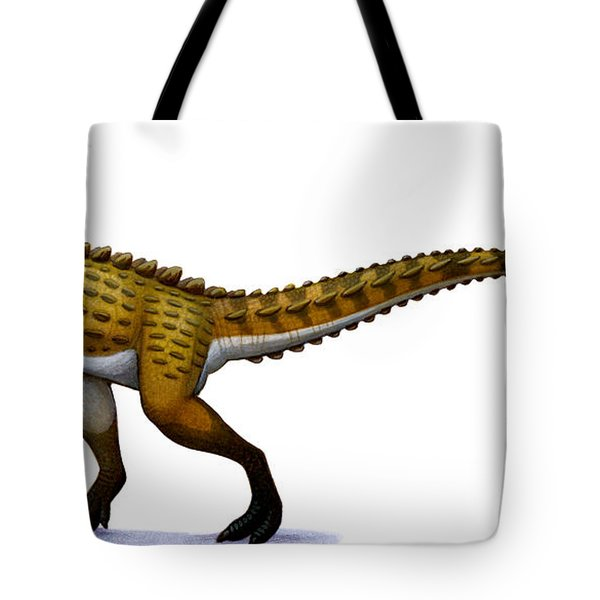 Scutellosaurus, An Early Jurassic Tote Bag by H. Kyoht Luterman